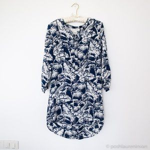H&M Tropical Print Tunic Swimsuit Cover Up